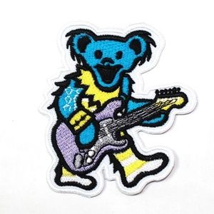 Grateful Dead Bear Patch iron on band music DIY